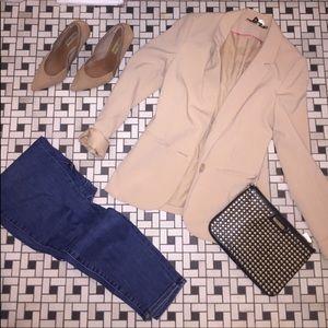 Nude H & M blazer